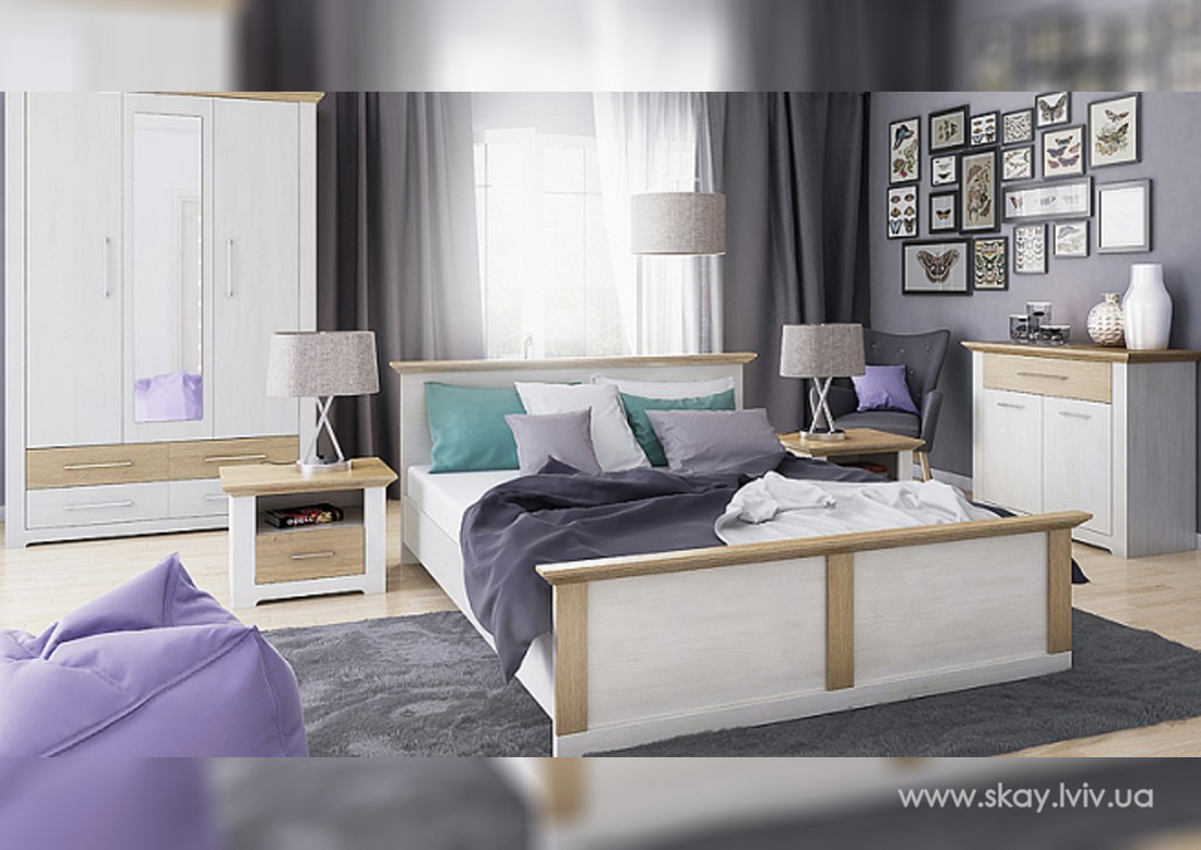 Комплект спальні Арсал Сосна / Дуб