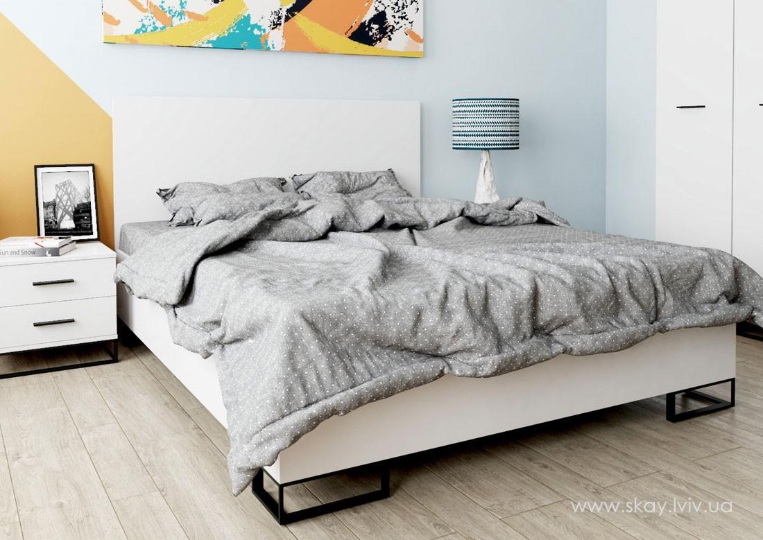 Ліжко Аскет 140 біла аляска