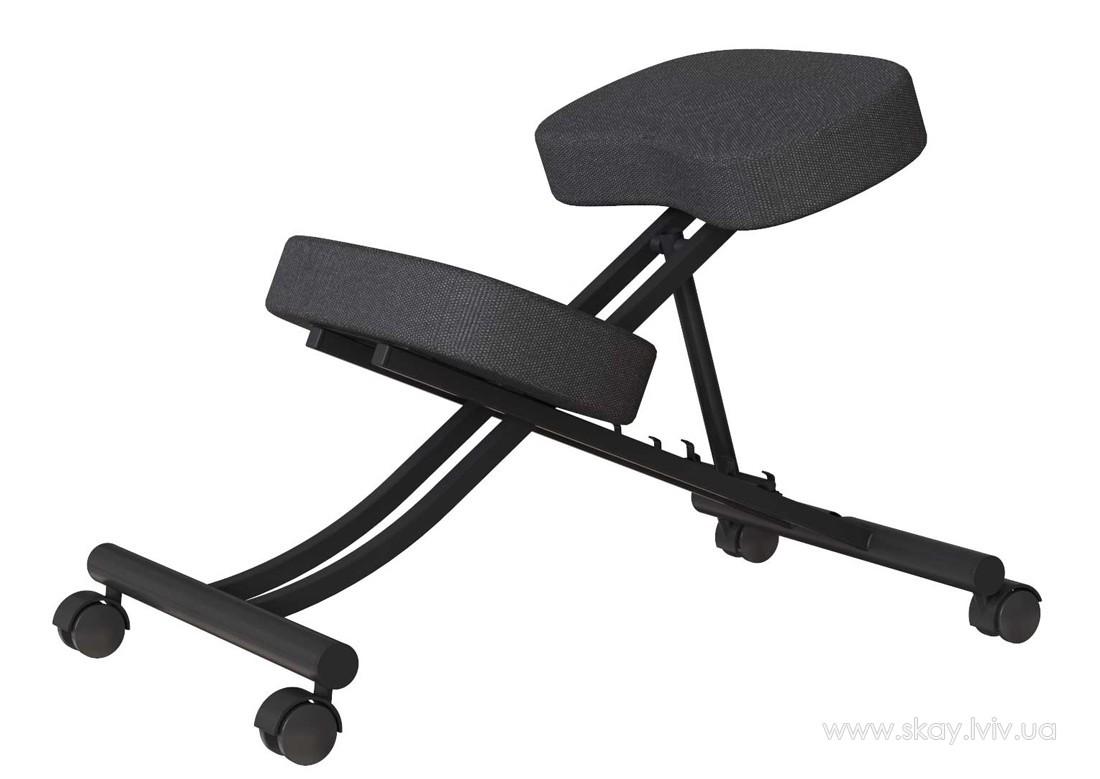 Колінний стілець Аскет чорний каркас