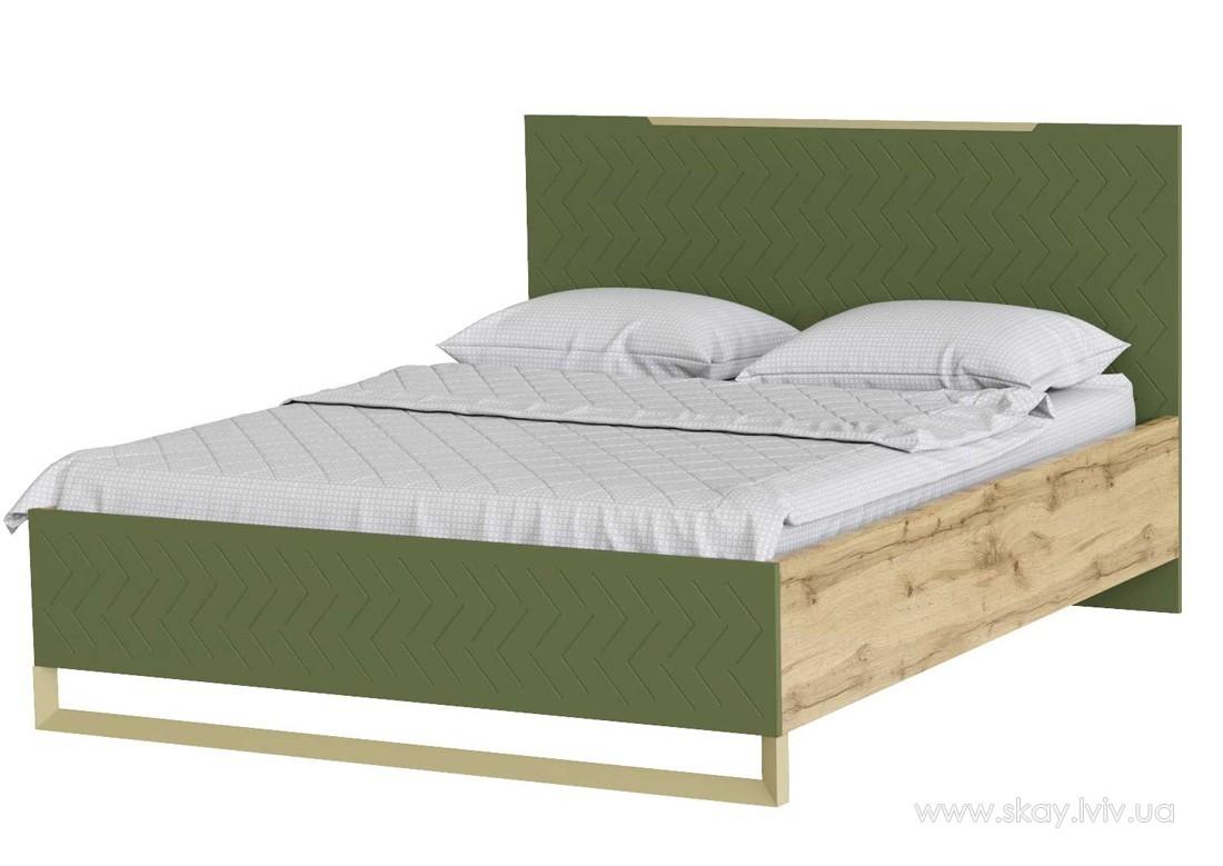 Ліжко 160 Сван балі зелений