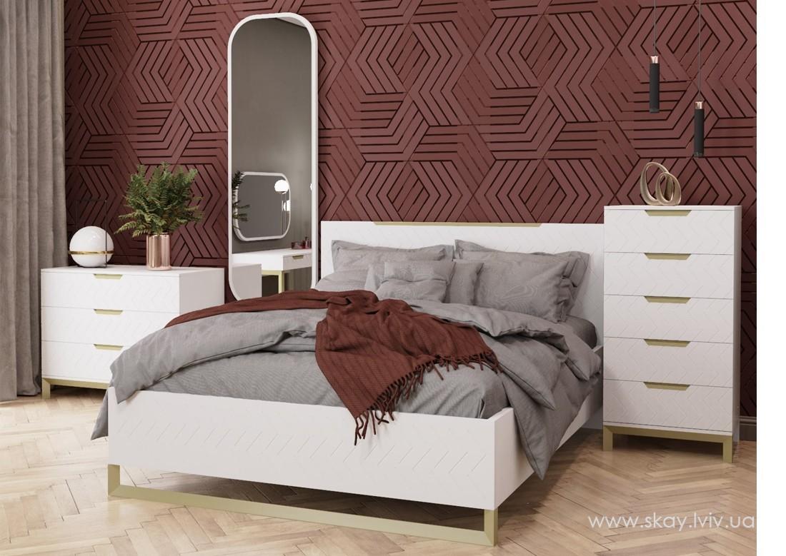 Ліжко 160 Сван білий супермат