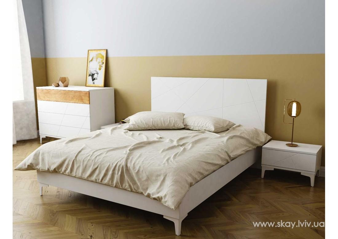 Ліжко 160 Пікасса білий супермат