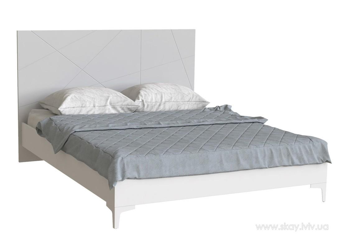 Ліжко 160 Пікасса попелястий софттач