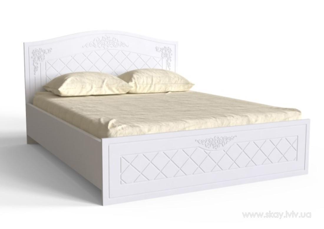 Ліжко 160 Амелі білий супермат